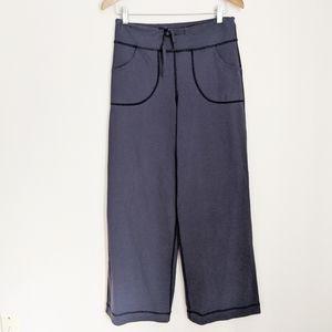 Lululemon Blue Still Pant II Wide Leg Sweatpants 6